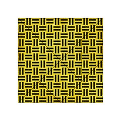 Woven1 Black Marble & Gold Glitter (r) Acrylic Tangram Puzzle (4  X 4 )