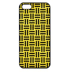 Woven1 Black Marble & Gold Glitter (r) Apple Iphone 5 Seamless Case (black)