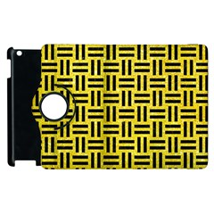 Woven1 Black Marble & Gold Glitter (r) Apple Ipad 2 Flip 360 Case