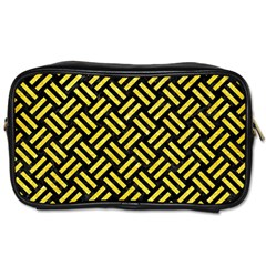 Woven2 Black Marble & Gold Glitter Toiletries Bags 2 Side