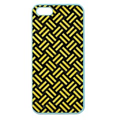 Woven2 Black Marble & Gold Glitter Apple Seamless Iphone 5 Case (color)