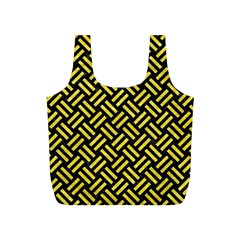 Woven2 Black Marble & Gold Glitter Full Print Recycle Bags (s)