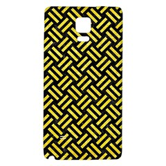 Woven2 Black Marble & Gold Glitter Galaxy Note 4 Back Case
