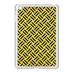 Woven2 Black Marble & Gold Glitter (r) Apple Ipad Mini Case (white)