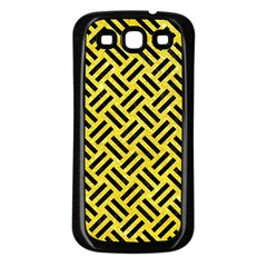 Woven2 Black Marble & Gold Glitter (r) Samsung Galaxy S3 Back Case (black)