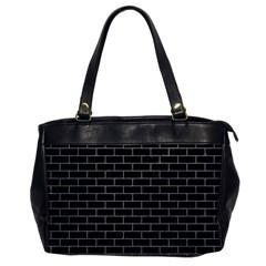 Brick1 Black Marble & Gray Colored Pencil Office Handbags