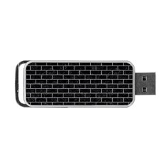 Brick1 Black Marble & Gray Colored Pencil Portable Usb Flash (one Side)