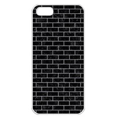 Brick1 Black Marble & Gray Colored Pencil Apple Iphone 5 Seamless Case (white)