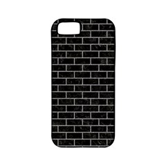 Brick1 Black Marble & Gray Colored Pencil Apple Iphone 5 Classic Hardshell Case (pc+silicone)