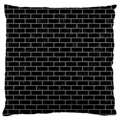 Brick1 Black Marble & Gray Colored Pencil Large Flano Cushion Case (one Side)