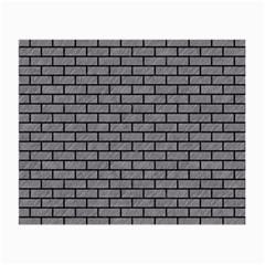 Brick1 Black Marble & Gray Colored Pencil (r) Small Glasses Cloth (2 Side)