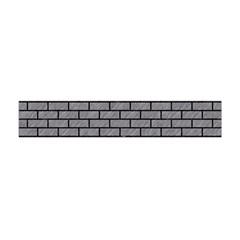 Brick1 Black Marble & Gray Colored Pencil (r) Flano Scarf (mini)