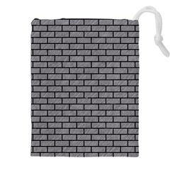 Brick1 Black Marble & Gray Colored Pencil (r) Drawstring Pouches (xxl)