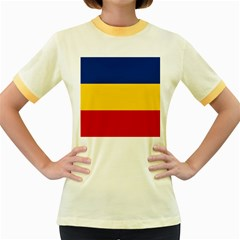 Gozarto Flag Women s Fitted Ringer T Shirts