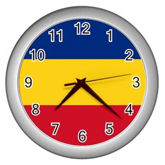 Gozarto Flag Wall Clocks (silver)
