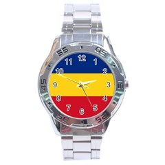 Gozarto Flag Stainless Steel Analogue Watch