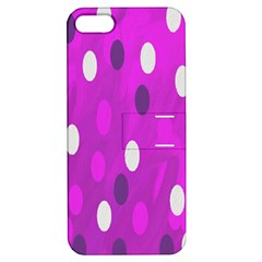 Pink Rain Drops Of Love! Apple Iphone 5 Hardshell Case With Stand