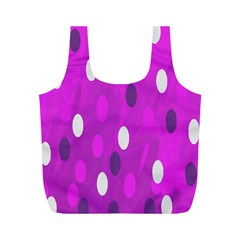 Pink Rain Drops Of Love! Full Print Recycle Bags (m)