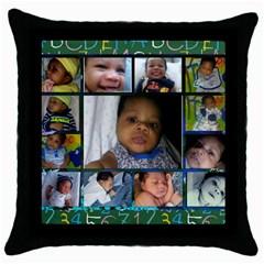 Kids Toys021a Black Throw Pillow Case