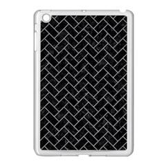 Brick2 Black Marble & Gray Colored Pencilbrick2 Black Marble & Gray Colored Pencil Apple Ipad Mini Case (white)