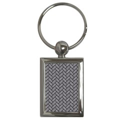 Brick2 Black Marble & Gray Colored Pencil (r) Key Chains (rectangle)