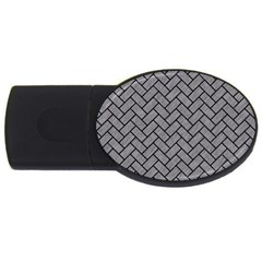 Brick2 Black Marble & Gray Colored Pencil (r) Usb Flash Drive Oval (2 Gb)
