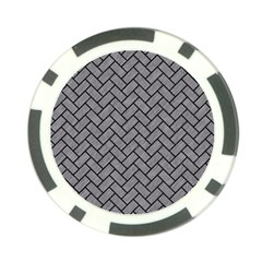 Brick2 Black Marble & Gray Colored Pencil (r) Poker Chip Card Guard (10 Pack)