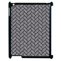 Brick2 Black Marble & Gray Colored Pencil (r) Apple Ipad 2 Case (black)