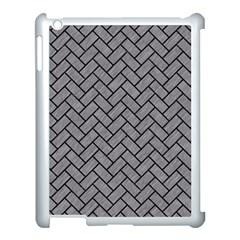 Brick2 Black Marble & Gray Colored Pencil (r) Apple Ipad 3/4 Case (white)