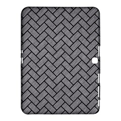 Brick2 Black Marble & Gray Colored Pencil (r) Samsung Galaxy Tab 4 (10 1 ) Hardshell Case