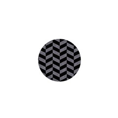Chevron1 Black Marble & Gray Colored Pencil 1  Mini Magnets