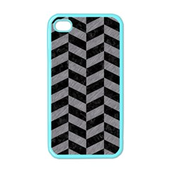 Chevron1 Black Marble & Gray Colored Pencil Apple Iphone 4 Case (color)
