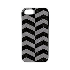 Chevron2 Black Marble & Gray Colored Pencil Apple Iphone 5 Classic Hardshell Case (pc+silicone)