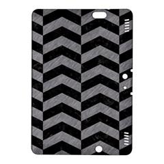 Chevron2 Black Marble & Gray Colored Pencil Kindle Fire Hdx 8 9  Hardshell Case