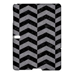 Chevron2 Black Marble & Gray Colored Pencil Samsung Galaxy Tab S (10 5 ) Hardshell Case