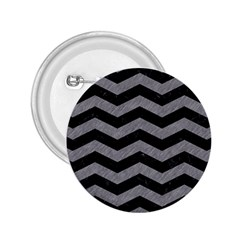 Chevron3 Black Marble & Gray Colored Pencil 2 25  Buttons