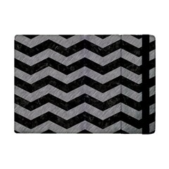 Chevron3 Black Marble & Gray Colored Pencil Ipad Mini 2 Flip Cases