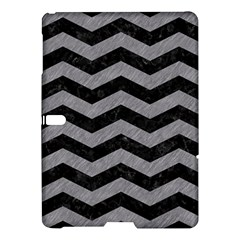 Chevron3 Black Marble & Gray Colored Pencil Samsung Galaxy Tab S (10 5 ) Hardshell Case