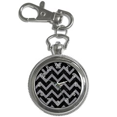 Chevron9 Black Marble & Gray Colored Pencil Key Chain Watches