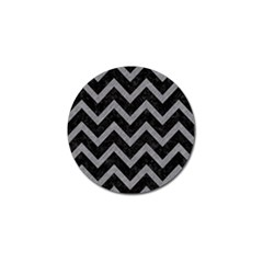 Chevron9 Black Marble & Gray Colored Pencil Golf Ball Marker