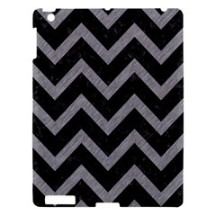Chevron9 Black Marble & Gray Colored Pencil Apple Ipad 3/4 Hardshell Case