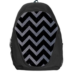 Chevron9 Black Marble & Gray Colored Pencil Backpack Bag