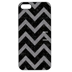 Chevron9 Black Marble & Gray Colored Pencil Apple Iphone 5 Hardshell Case With Stand