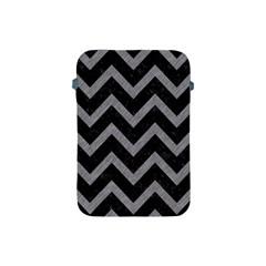 Chevron9 Black Marble & Gray Colored Pencil Apple Ipad Mini Protective Soft Cases