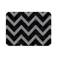 Chevron9 Black Marble & Gray Colored Pencil Double Sided Flano Blanket (mini)