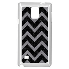 Chevron9 Black Marble & Gray Colored Pencil Samsung Galaxy Note 4 Case (white)