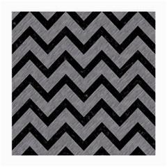 Chevron9 Black Marble & Gray Colored Pencil (r) Medium Glasses Cloth