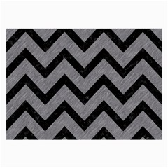 Chevron9 Black Marble & Gray Colored Pencil (r) Large Glasses Cloth (2 Side)