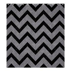 Chevron9 Black Marble & Gray Colored Pencil (r) Shower Curtain 66  X 72  (large)