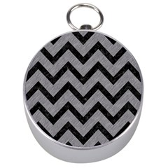Chevron9 Black Marble & Gray Colored Pencil (r) Silver Compasses